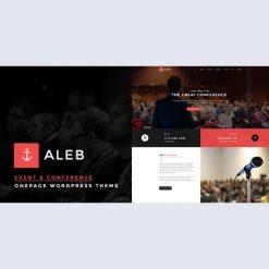 Aleb v1.3.4 - Event Conference Onepage WordPress Theme