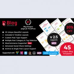 Blog Designer PRO for WordPress v2.7.5
