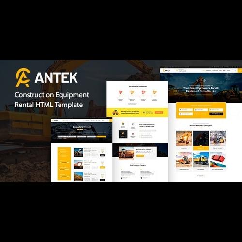 Antek v1.0 - Construction Equipment Rental HTML