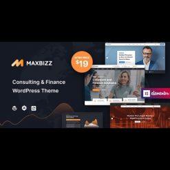 Maxbizz v1.0 - Consulting & Financial Elementor WordPress Theme