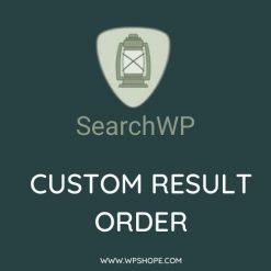 SearchWP Custom Results Order