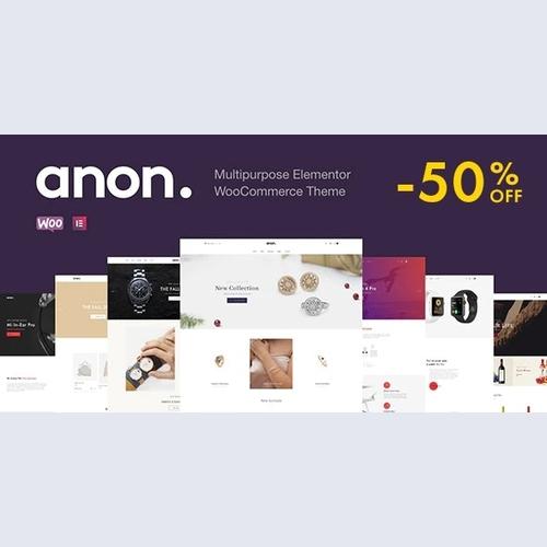 Anon - Multipurpose Elementor WooCommerce Theme