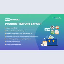 Product Import Export Plugin For WooCommerce - WebToffee