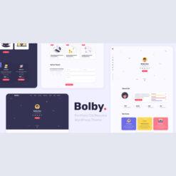 Bolby - PortfolioCVResume WordPress Theme